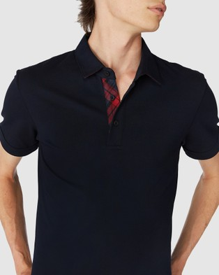 Jack London Navy Trimmed Polo - Shirts & Polos (Blue)