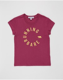 Running Bare Girl - Hear Me Roar Tee - Teens