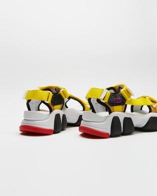 Onitsuka Tiger Dentigre Strap Unisex Casual Shoes White & Vibrant Yellow
