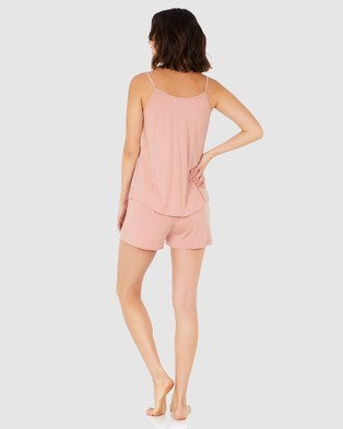 Boody Organic Bamboo Eco Wear Goodnight Sleep Set   Cami and Shorts   Dusty Pink - Two-piece sets (Pink)