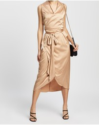 Never Fully Dressed - Wrap Midi Dress