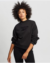 Reebok - Mock Neck Crew Sweatshirt