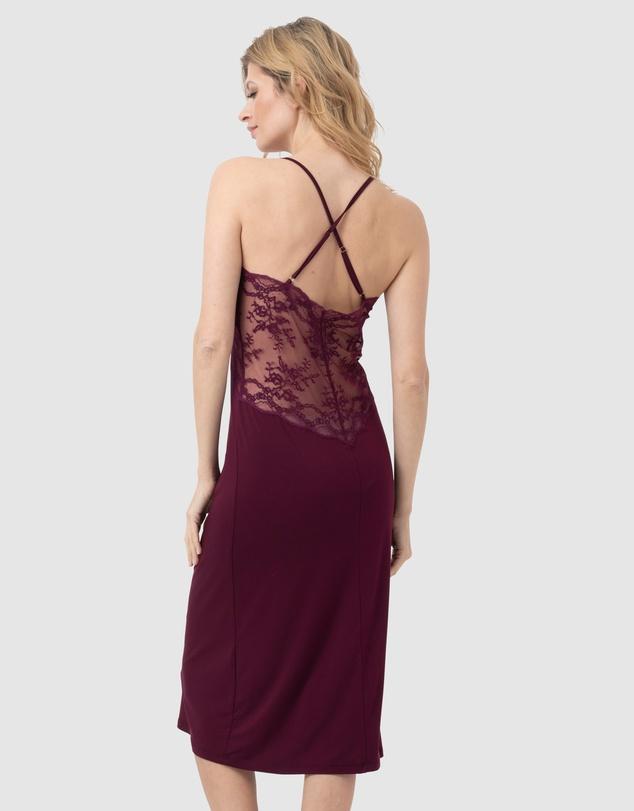Women Lace Back Midi Nightdress