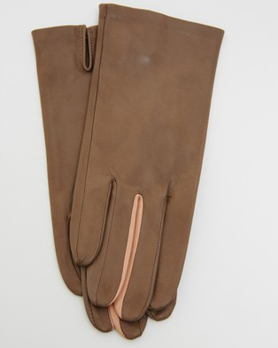 Kate & Confusion Wanderer Ladies Leather Gloves - Outdoor Gloves (Taupe)