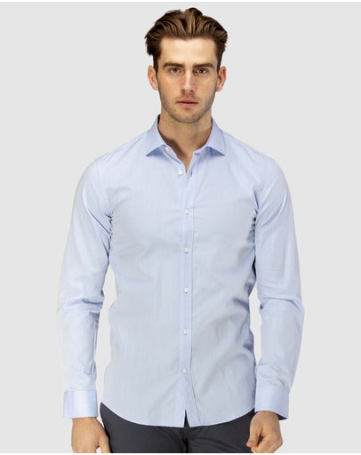Brooksfield - Career Diamond Weave Business Shirt