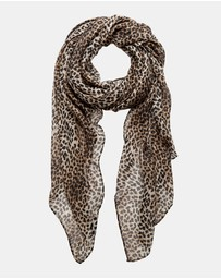 Forever New - Mila Leopard Print Scarf