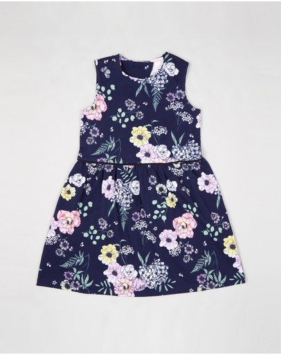 Milky - Navy Floral Dress - Kids