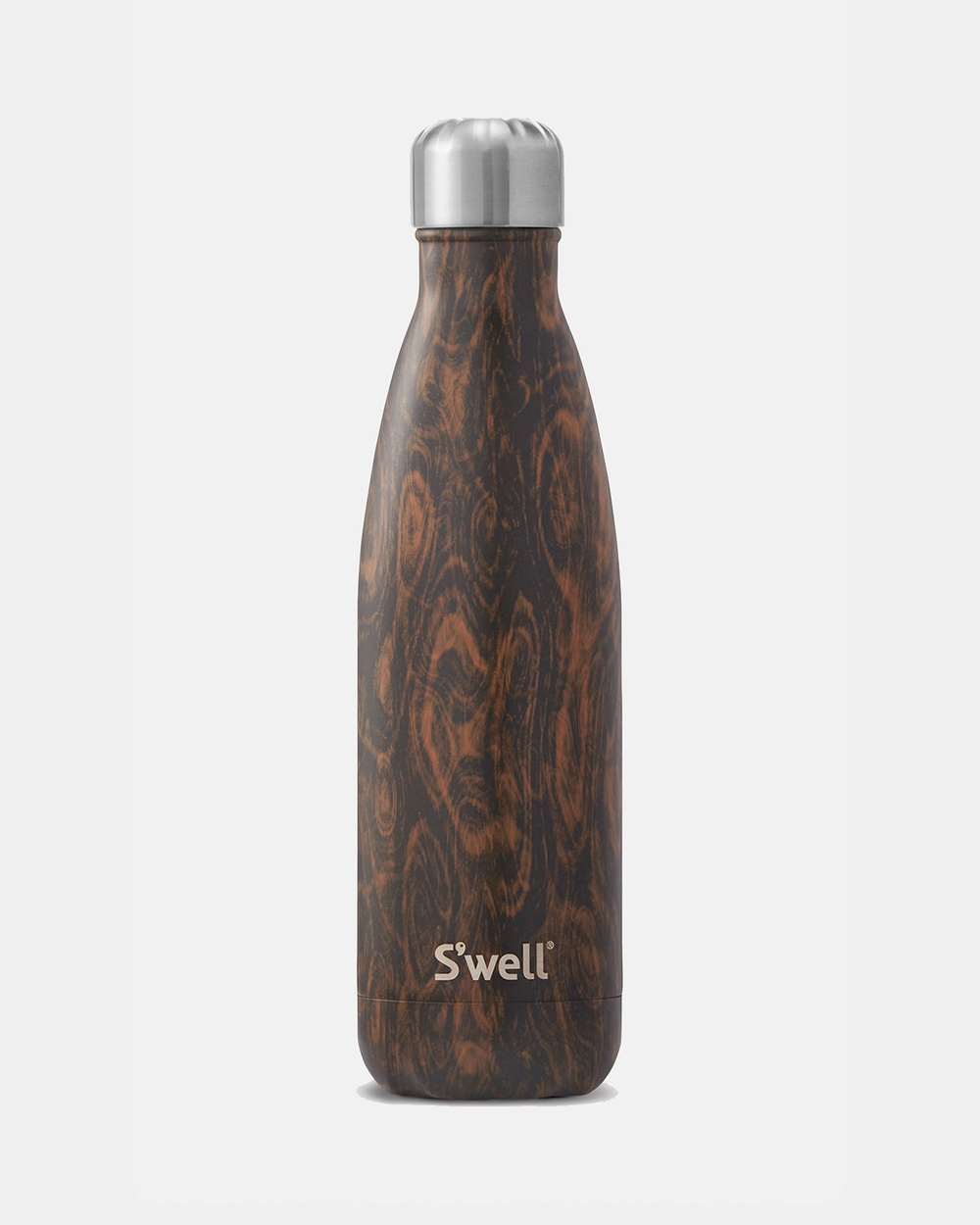 S'well Insulated Bottle Wood Collection 500ml Wenge Water Bottles Brown