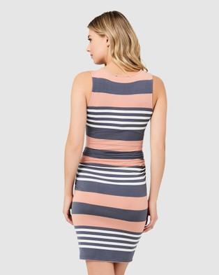 Ripe Maternity Annie Nursing Dress - Dresses (Peach)