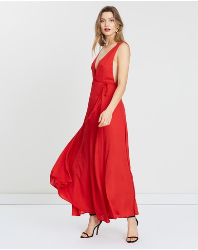 Miss Holly Dalia Dress Red