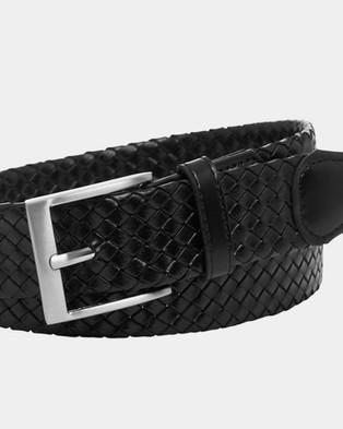 Buckle Mossman 35mm Plaited Belt - Belts (Black)