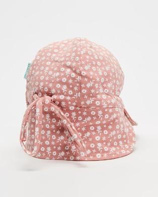 Acorn Kids Sweet Pea Flap Hat   Babies - Hats (Rose)