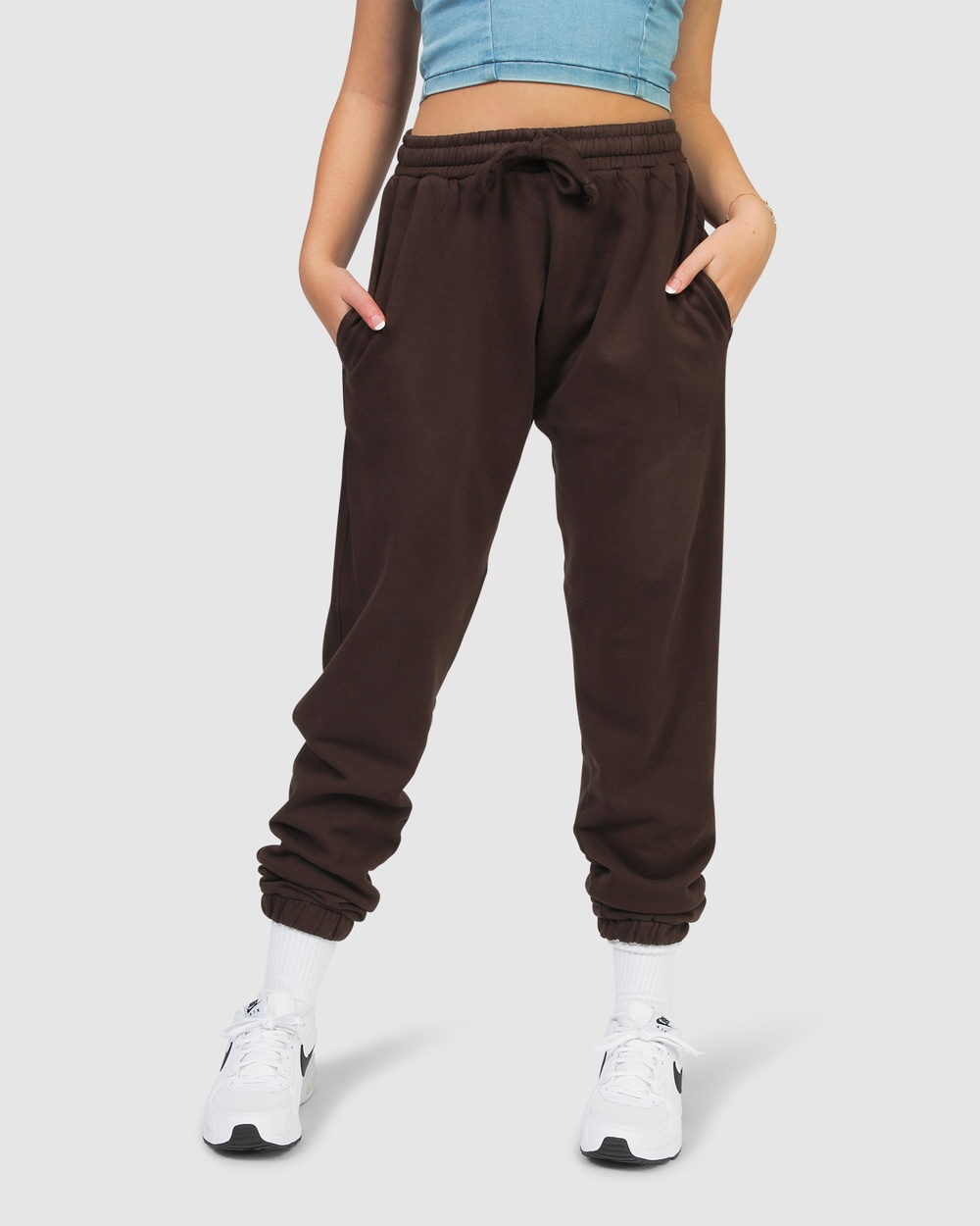 Gelati Jeans Kids Bounty Bear Track Pants Sweatpants Chocolate Brown Australia