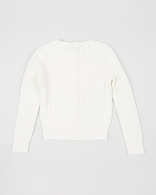 Polo Ralph Lauren Mini Cable Cardigan   Teen - Jumpers & Cardigans (White)
