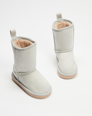 Cotton On Kids Classic Homeboots   Kids Teens - Boots (Winter Grey)