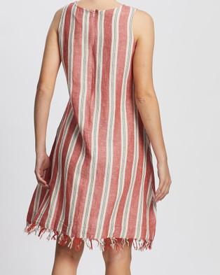 KAJA Clothing Amy Dress - Dresses (Red Stripe)