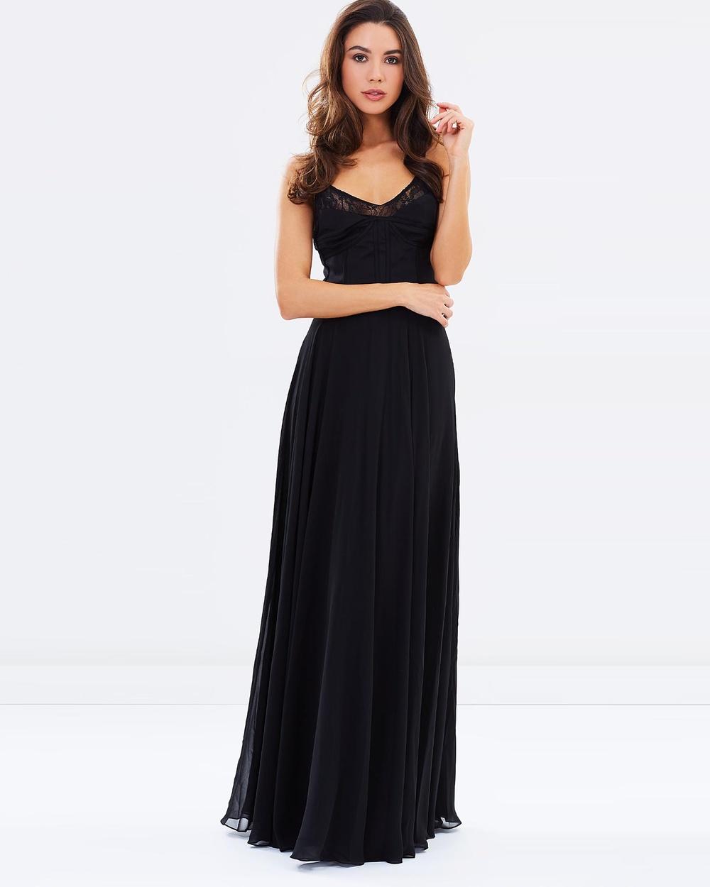 ROXCIIS Misfit Corset Gown Dresses Black Misfit Corset Gown