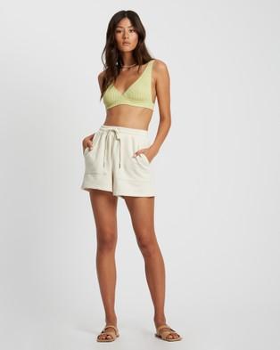 ST MRLO Maui Shorts - High-Waisted (Cream)