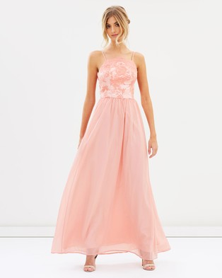 Chi Chi London – Trish Dress – Bridesmaid Dresses (Coral)