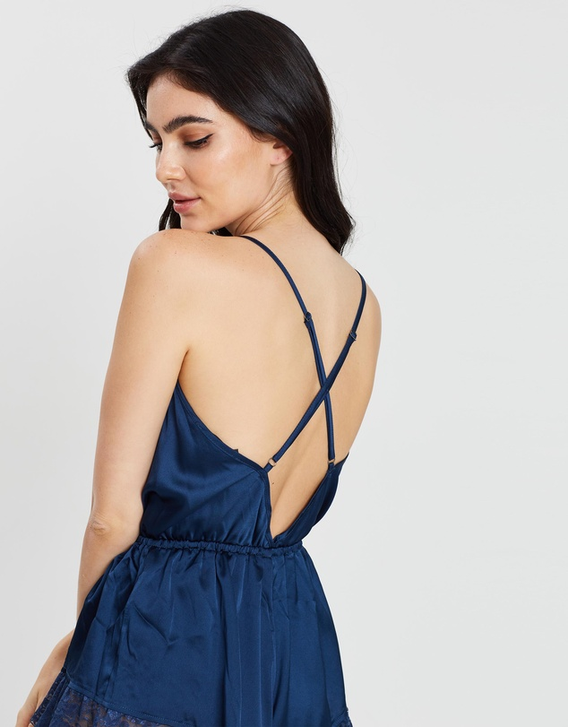 Missguided - Lace-Trim Detail Teddy