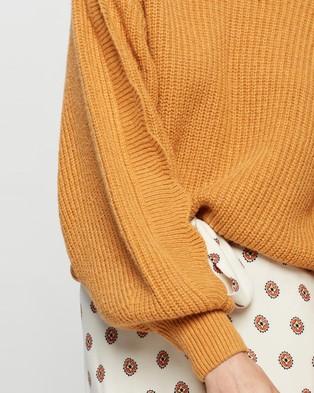 Tigerlily Hanami Scallop Knit - Jumpers & Cardigans (Ochre)