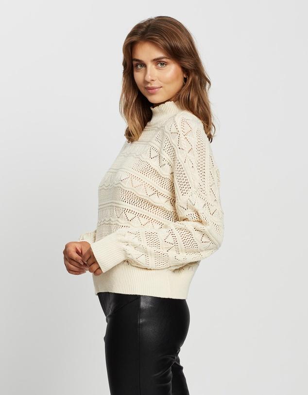 Women Erula LS Knit Pullover