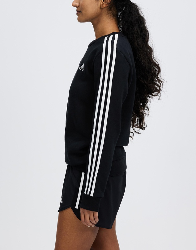 Women Essentials 3-Stripes Fleece Sweatshirt