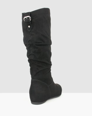 Betts Oxley Wedge Boots - Wedge Boots (Black)