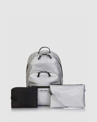 TIBA + MARL - Elwood Backpack Changing Bag - Backpacks (Silver) Elwood Backpack Changing Bag