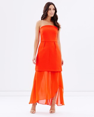 Cooper St – Night Fever Midi Dress – Dresses (Vivid Orange)