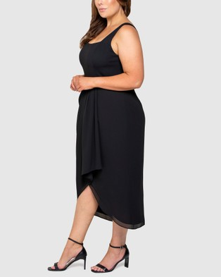 Forever New Curve - Jeanine Curve 2 In 1 Midi Dress - Bridesmaid Dresses (Black) Jeanine Curve 2-In-1 Midi Dress