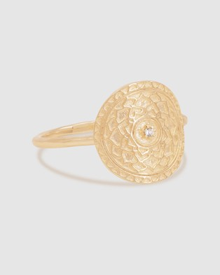 By Charlotte A Thousand Petals Ring Jewellery Gold