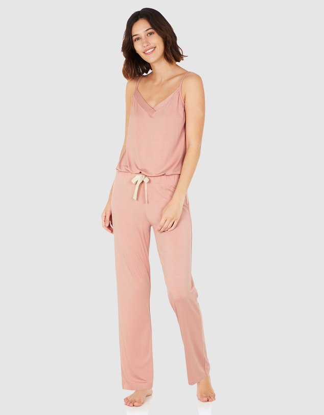 Boody Organic Bamboo Eco Wear - Goodnight Sleep Set - Cami and Pants - Dusty Pink