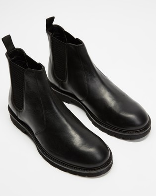 Locale Craft Leather Chelsea Boots - Boots (Black)