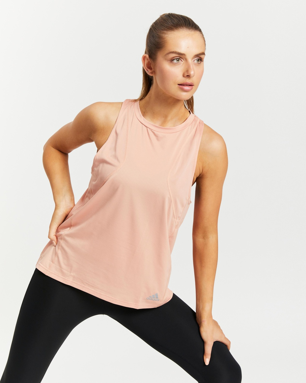 adidas Performance Own The Run Tank Top Muscle Tops Ambient Blush