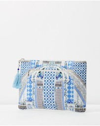 Camilla - Large Canvas Clutch