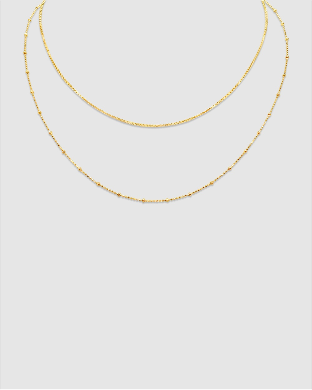 Ichu Layers Necklace, Gold Jewellery Gold Plated
