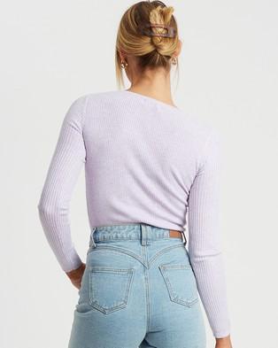 Savel Elsbeth Knit Top - Tops (Lavender)