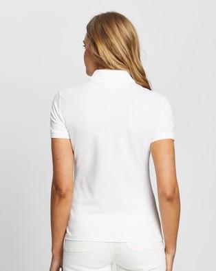 Lacoste Fancy Croc Slim Fit Polo - Tops (White)