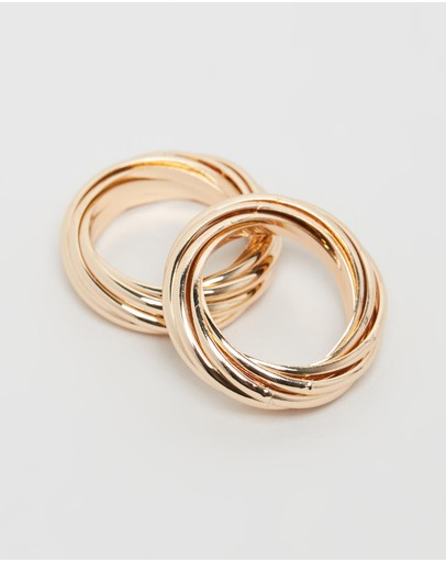 Bling Bar Cinzia Ring Set Vintage Gold