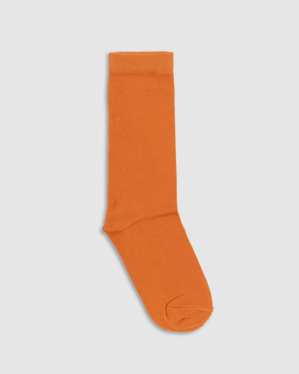 NICO Amber Organic Cotton Crew Socks Rust Shorts Rust Australia