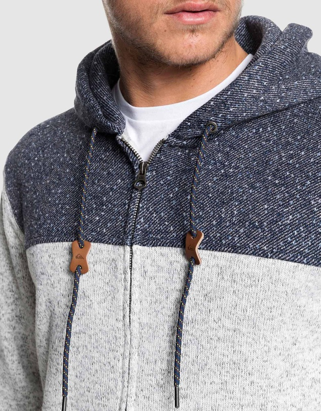 Quiksilver - Mens Keller Block Fleece Lined Hoodie