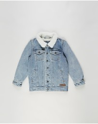 Alphabet Soup - Denim Sherpa Jacket - Kids