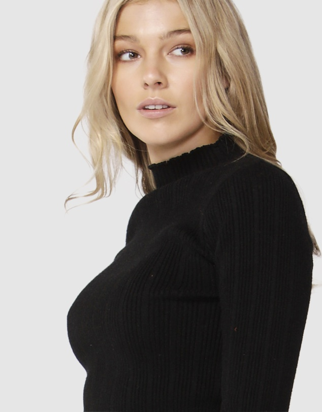 Sass - Moonlight Ribbed Turtleneck