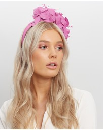 Fillies Collection - Bespoke Leather Flower Headband Fascinator