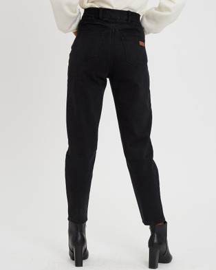 Calli Hudson Mom Jeans - High-Waisted (Black Wash)