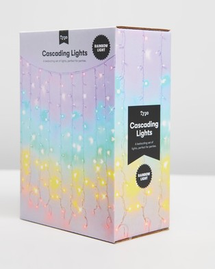 Typo Cascading Lights - Home (Rainbow)