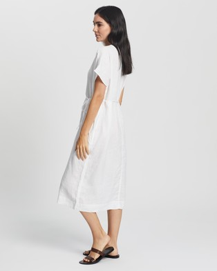 Assembly Label Freya Linen Dress - Dresses (White)