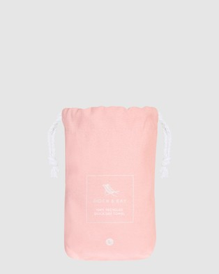 Dock & Bay Large Fitness Towel 100% Recycled Essential Collection - Gym & Yoga (Pink)