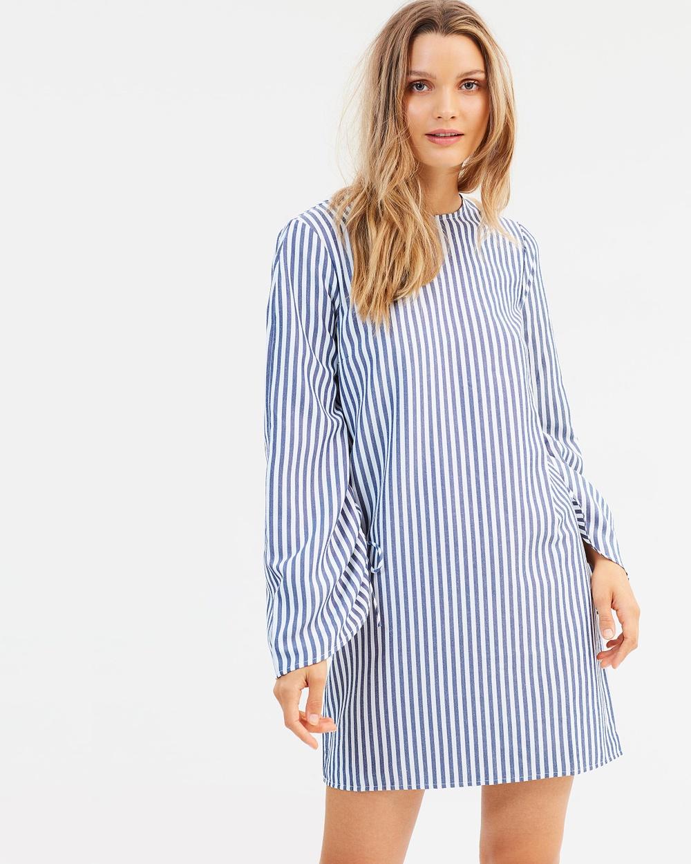 Cooper St Striped Swan Shift Dress Dresses Stripe Striped Swan Shift Dress